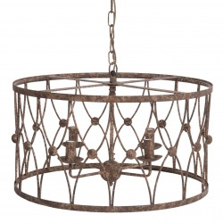 Mennyezeti lámpa, vas, 62*40 cm, régies