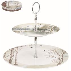 Porcelán 2 emeletes tortatál/kínáló - Faded Dreams