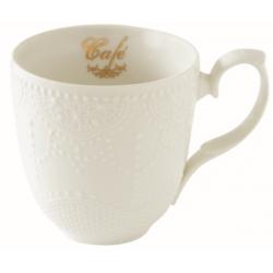 Porcelánbögre 320ml, dobozban, Maison Café