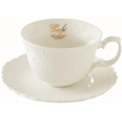 Porcelán csésze aljjal, 250ml, dobozban Maison Café