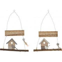 Ajtó / Fali Dekoráció, felakasztható, fa, 19X15,5cm , Garden