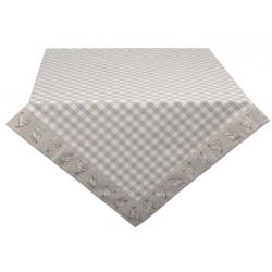 Asztalterítő, pamut 130x180cm - bézs, kakasos