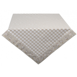 Asztalterítő, pamut 150x250cm - bézs, kakasos