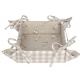 Kenyérkosár-textil béléssel, 35x35cm - bézs, kakasos