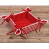 Kenyérkosár-textil béléssel, 35x35cm - Laura