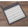 Edényalátát 20x20cm,100% pamut, Music