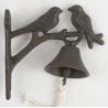 Öntöttvas fali kolomp - madárpár, barna antikolt