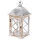 Faléces lantern fémtetővel 21x43x21cm