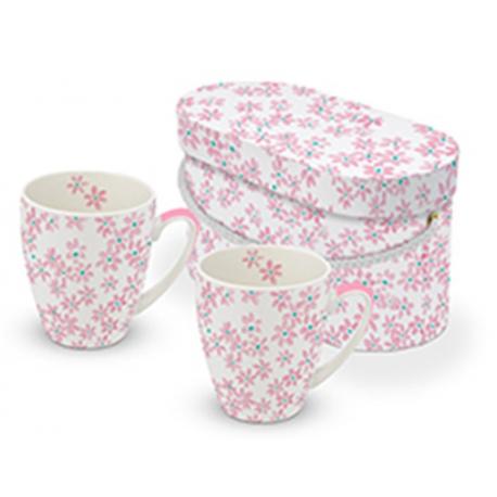 Porcelán bögre 0,35l, dobozban, 2db-os, Pretty in Rosé