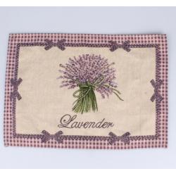 Textil tányéralátét 33x48cm, Lavender