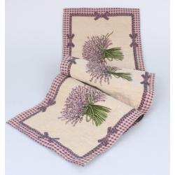 Textil asztali futó 33x140cm, Lavender