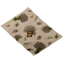 Textil tányéralátét 33x48cm, Levendulás, cserepes