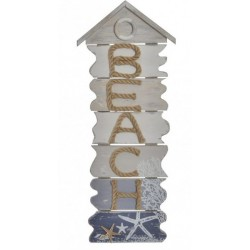 Fali dekoráció, fa, 24X3,5X61, Beach