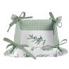 Kenyérkosár-textil béléssel, 35x35cm - Olive Garden