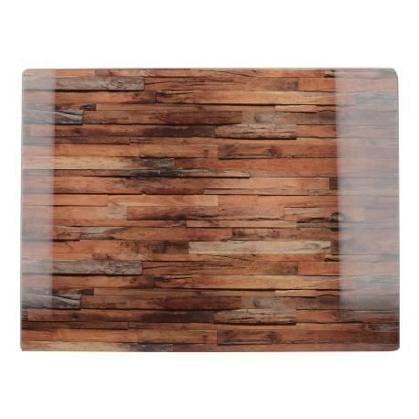 Üveg vágólap 400x300mm, Wood Cabin