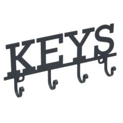 Fém kulcsos fogas, 19x2,5x8cm, Keys