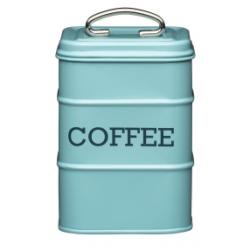 Fém konyhai Kávétároló 11x17cm, kék