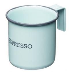 Fém bögre 75ml, Espresso, kék