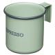 Fém bögre 75ml, Espresso, zöld