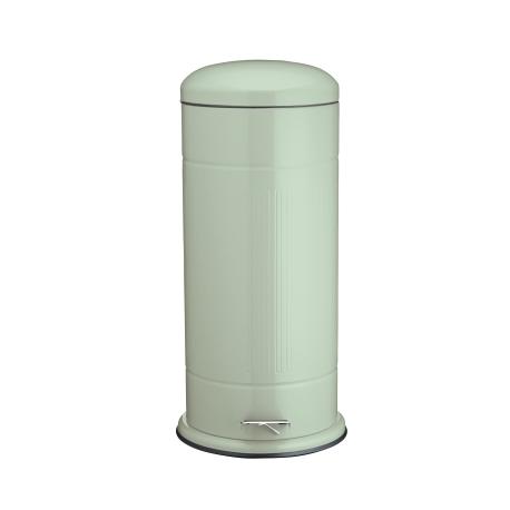 Fém szeméttároló pedálos, 30 literes, zöld