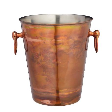Rozsdamentes acél pezsgőhűtő vödör, 20x23cm