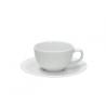 Porcelán presszócsésze+alj 90ml, Cleopatra Bianco