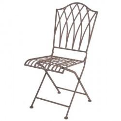 Öntöttvas kerti szék