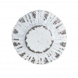 Öntöttvas ajtógomb, antikolt fehér, 3x3cm