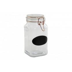 Tároló üveg csatos tetővel, 13x11x20cm