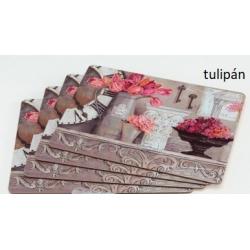 Parafa tányéralátét szett 4db-os, 40x30cm, Tulipán