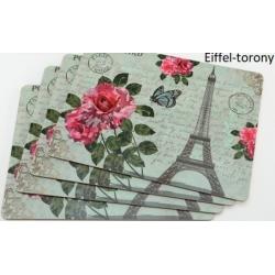Parafa tányéralátét szett 4db-os, 40x30cm, Eiffel tornyos