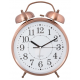 Ébresztő óra fém 23x8x30cm, bronz színű