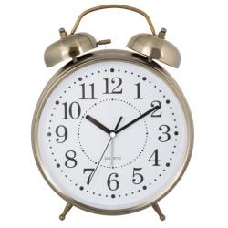 Ébresztő óra fém 23x8x30cm, arany színű