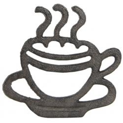 Öntöttvas edényalátét 19x18x2cm, kávéscsészés