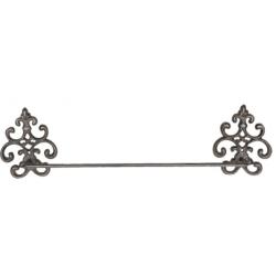 Fém törölközőtartó barna, 58x6x15cm, liliomos