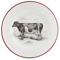 Kerámia desszert tányér - tehenes