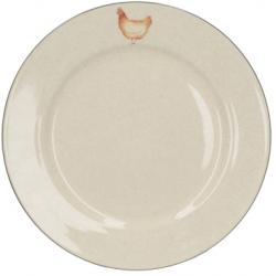 Kerámia lapos tányér 27cm, csirkés