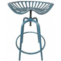 Traktor szék öntöttvas, kék