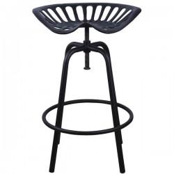 Traktor szék öntöttvas, fekete