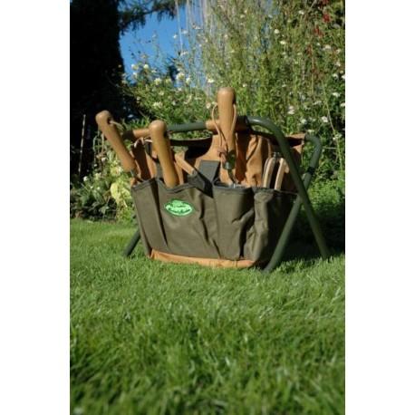 Szerszámtartó szék, zöld-barna