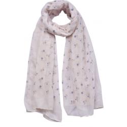 Textilsál 90x180cm, bézs-kék apróvirágos