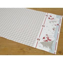 Asztali futó 40x150cm, hóemberes