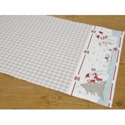 Asztali futó 40x100cm, hóemberes