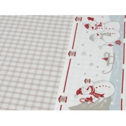 Asztal terítő 100x100cm, hóemberes