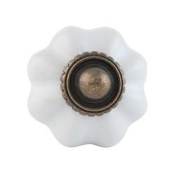Ajtó fogantyú  3cm , fehér-bronz