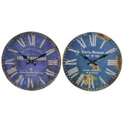 Fa fali óra 34cm, kék 2 féle
