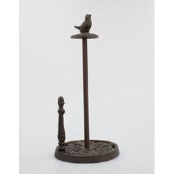 Fém papírtörlő tartó 18x37cm, madárkás