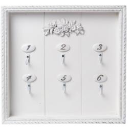 Fali kulcsos szekrény fehér 29x3x29cm