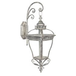 Falra szerelhető fém lantern 28x24x65cm