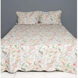 Ágytakaró+2db párnahuzat - virágos (230x250)(50x70cm)